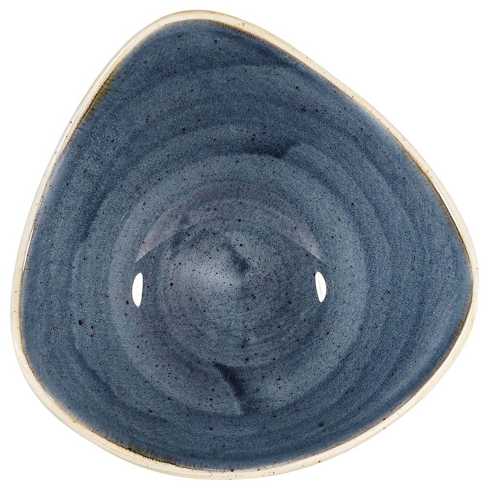Churchill SBBSTRB71 13 oz Triangular Stonecast® Lotus Bowl - Ceramic, Blueberry