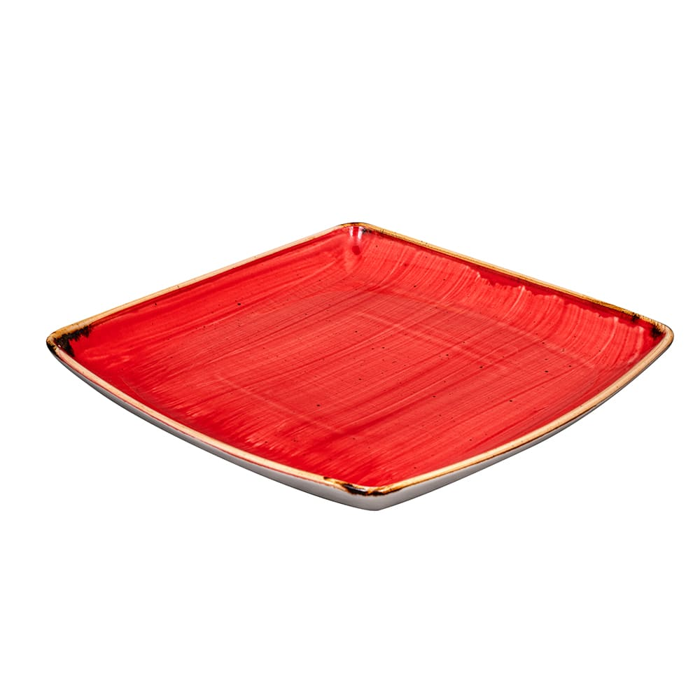 """Churchill SBRSDS101 10.5"""" Square Stonecast Plate - Ceramic, Berry Red"""