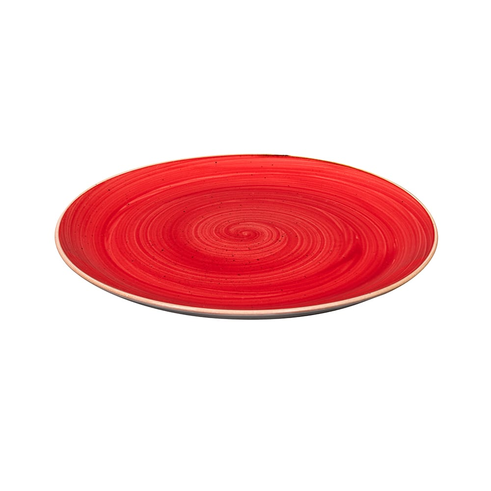 "Churchill SBRSEV111 11.25"" Round Stonecast Plate - Ceramic, Berry Red"