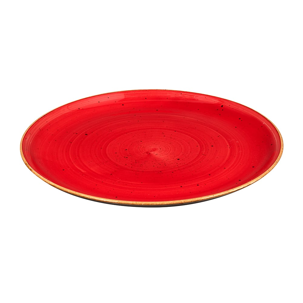 "Churchill SBRSEV121 12.75"" Round Stonecast Plate - Ceramic, Berry Red"