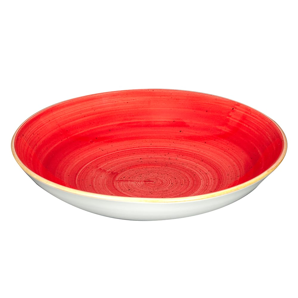 Churchill SBRSEVB91 40 oz Stonecast Bowl - Ceramic, Berry Red