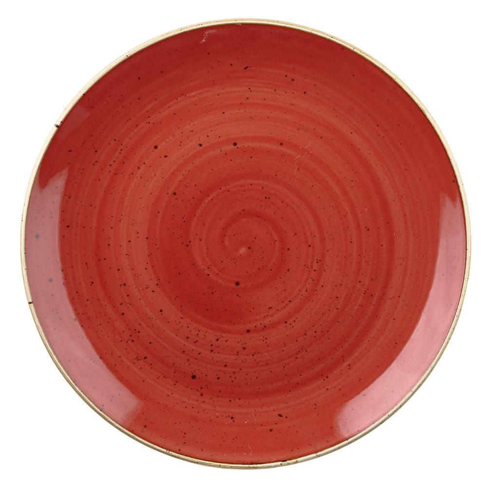 "Churchill SBRSEVP61 6.5"" Round Stonecast Plate - Ceramic, Berry Red"