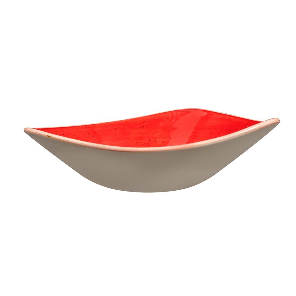 Churchill SBRSTRB91 21-oz Triangular Stonecast Bowl - Ceramic, Berry Red