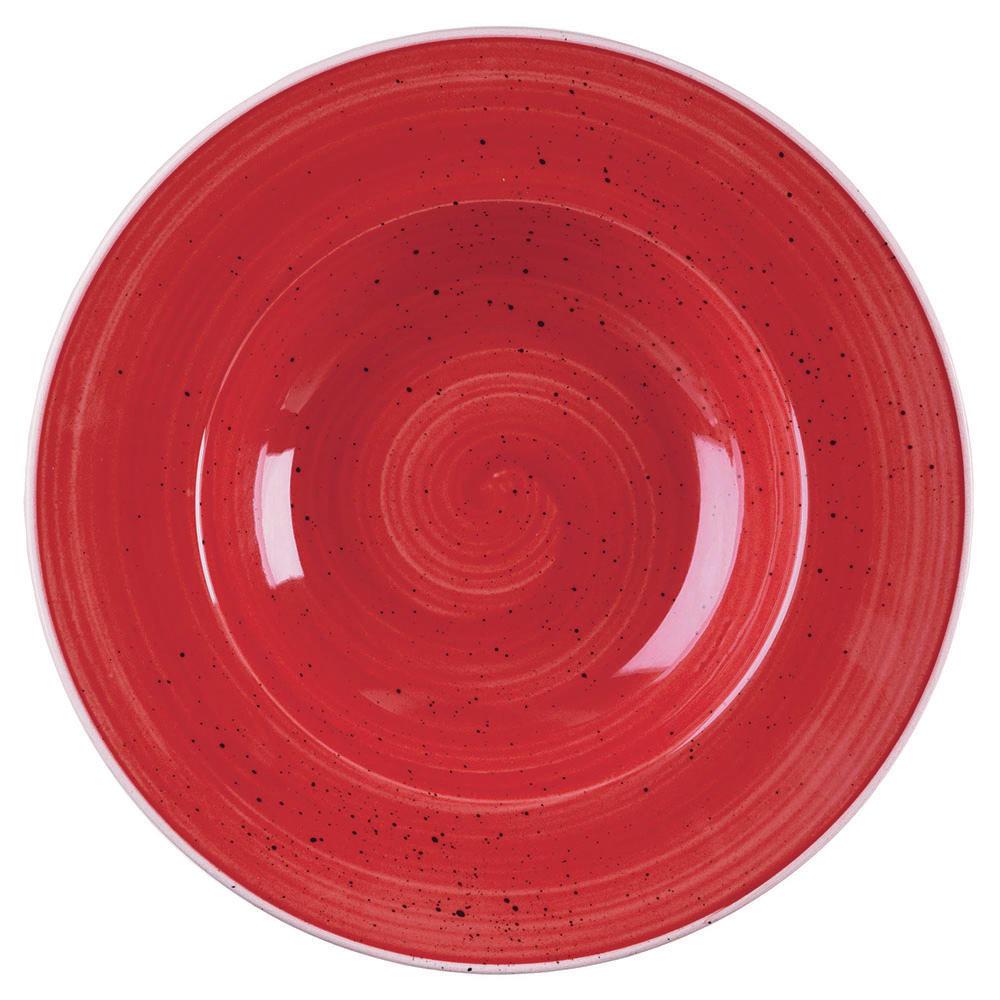 Churchill SBRSVWBM1 10-oz Stonecast Bowl - Ceramic, Berry Red