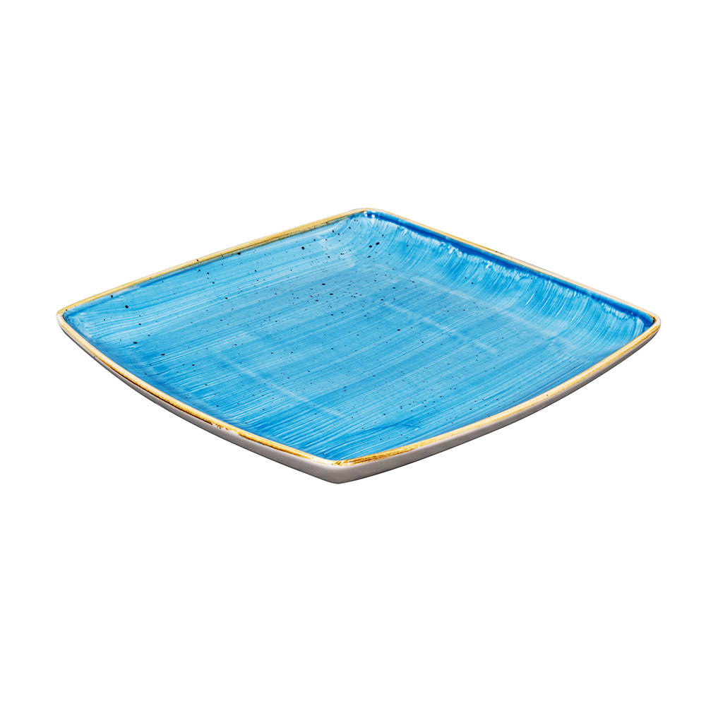 "Churchill SCFSDS101 10.5"" Square Stonecast Plate - Ceramic, Cornflower Blue"