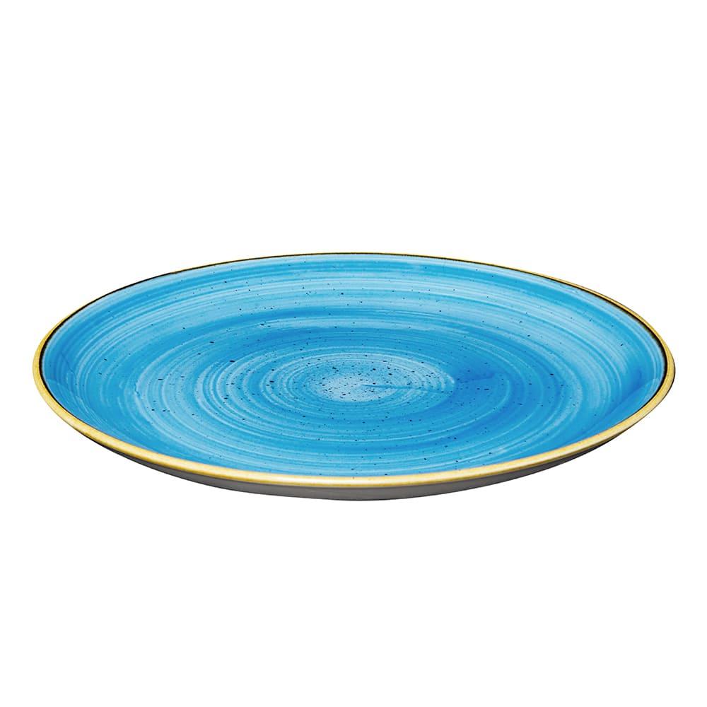 "Churchill SCFSEV111 11.25"" Round Stonecast Plate - Ceramic, Cornflower Blue"
