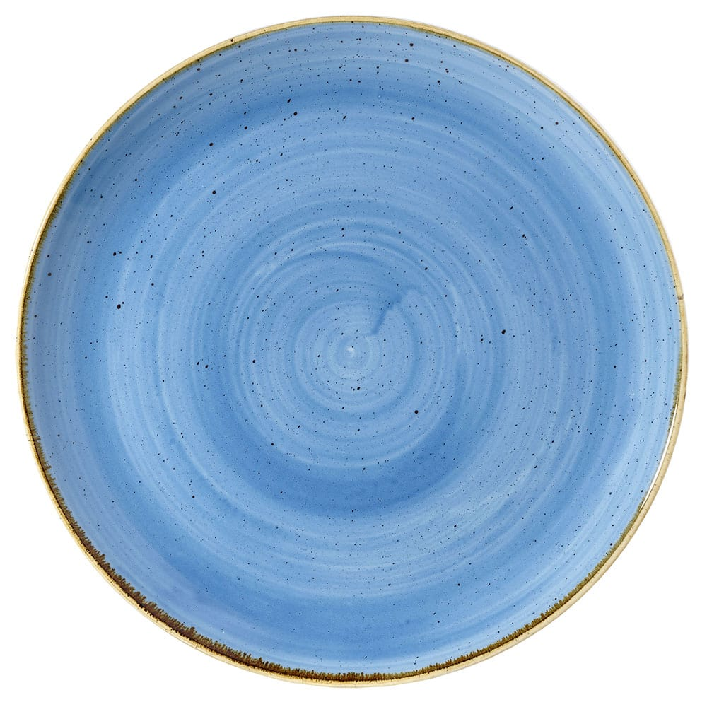 "Churchill SCFSEV121 12.75"" Round Stonecast Plate - Ceramic, Cornflower Blue"