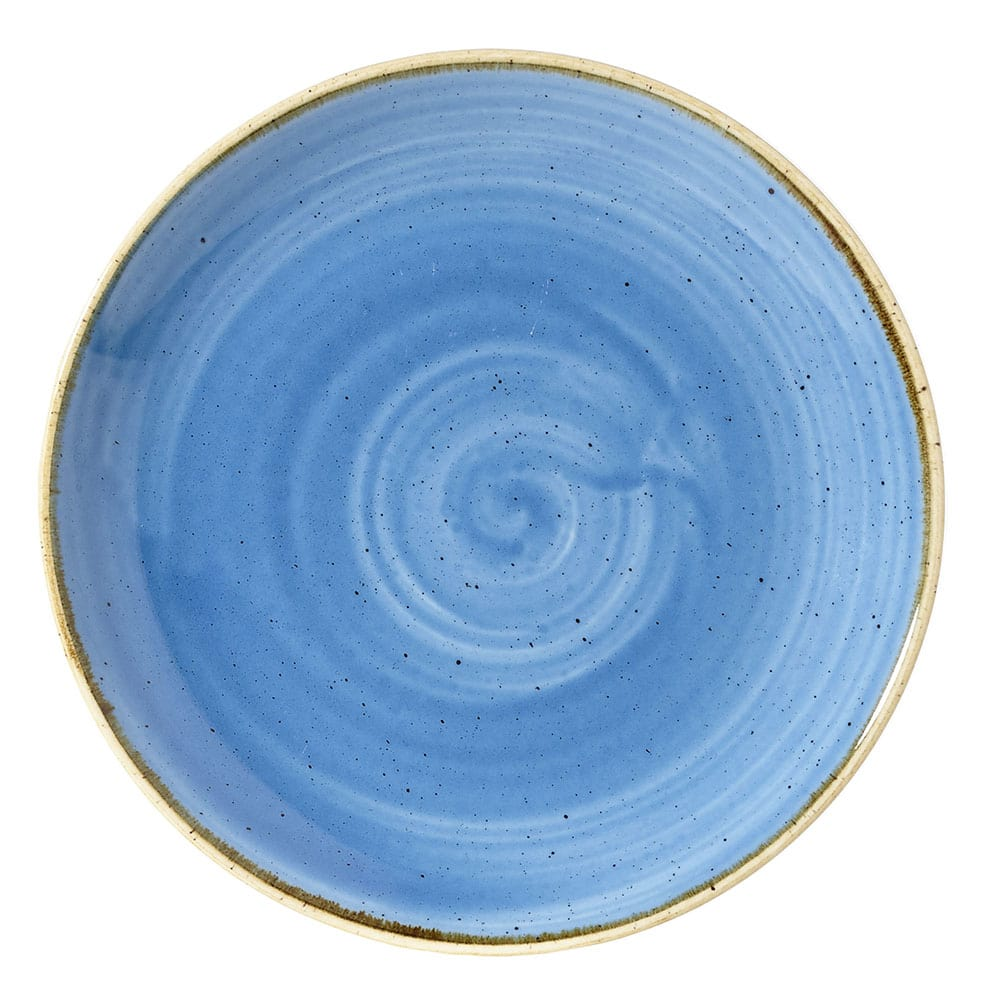 "Churchill SCFSEVP61 6.5"" Round Stonecast Plate - Ceramic, Cornflower Blue"