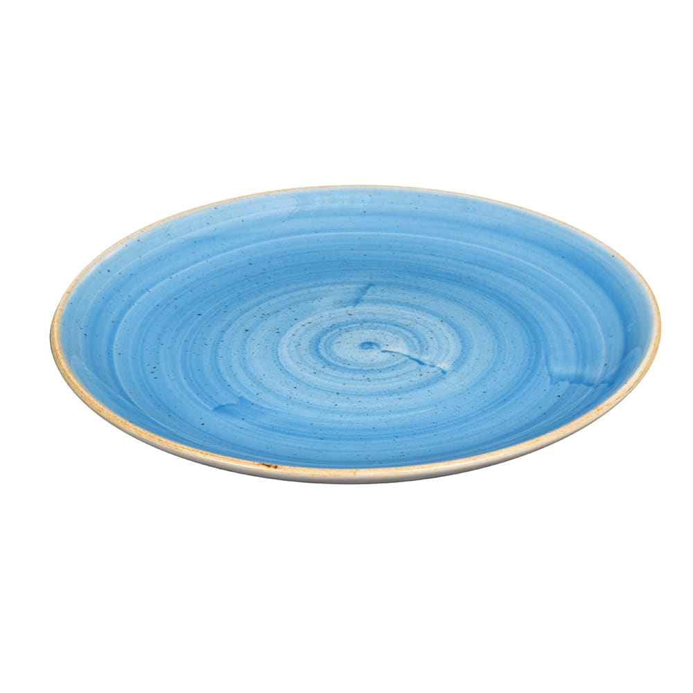 "Churchill SCFSEVP81 8.67"" Round Stonecast Plate - Ceramic, Cornflower Blue"