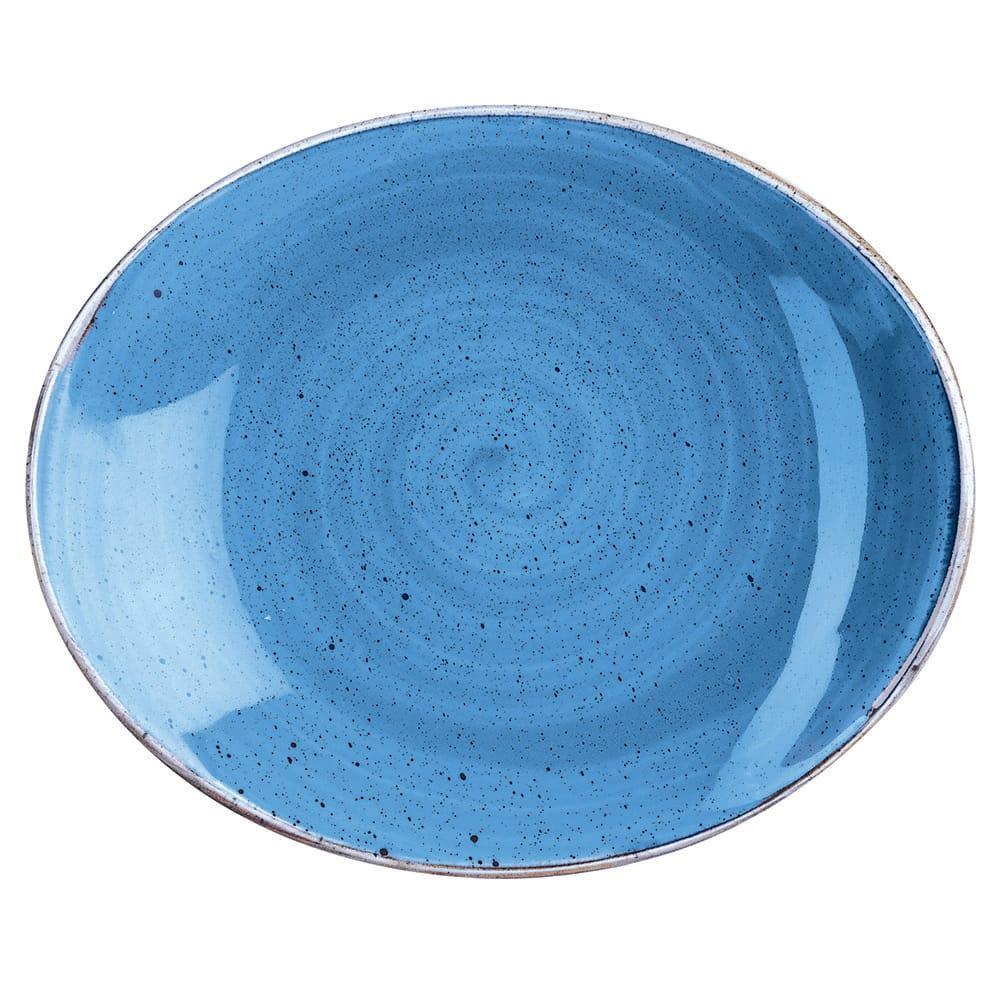 "Churchill SCFSOP71 Rectangular Stonecast Plate - 7.75"" x 6.25"", Ceramic, Cornflower Blue"