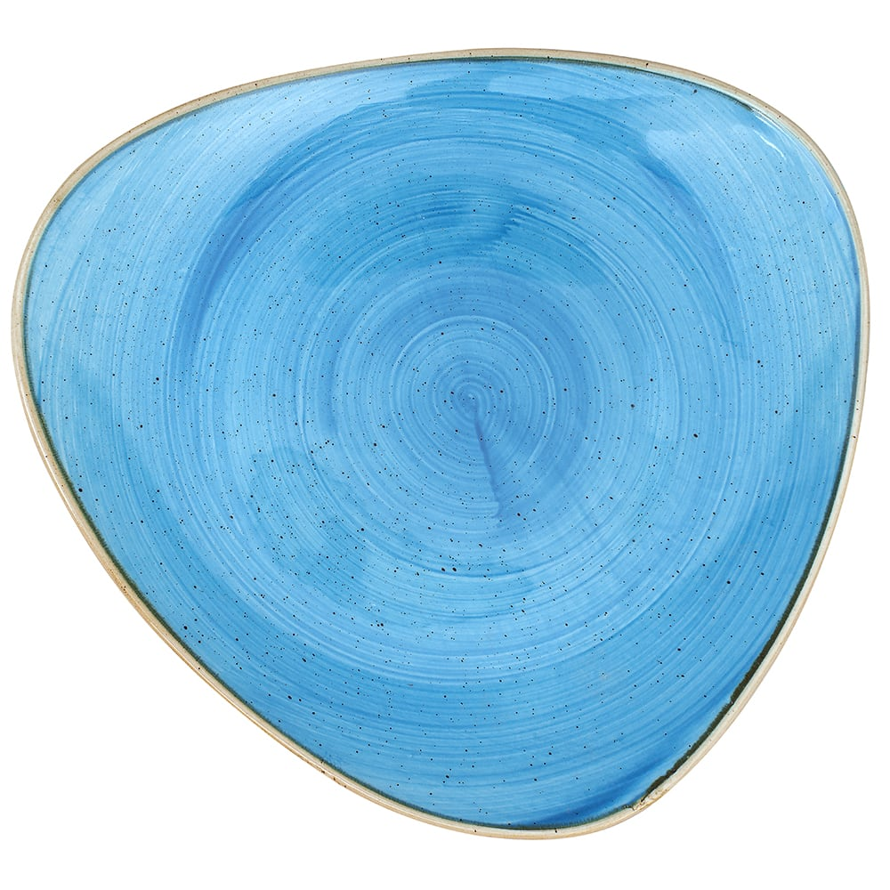 "Churchill SCFSTR101 10.5"" Triangular Stonecast Plate - Ceramic, Cornflower Blue"