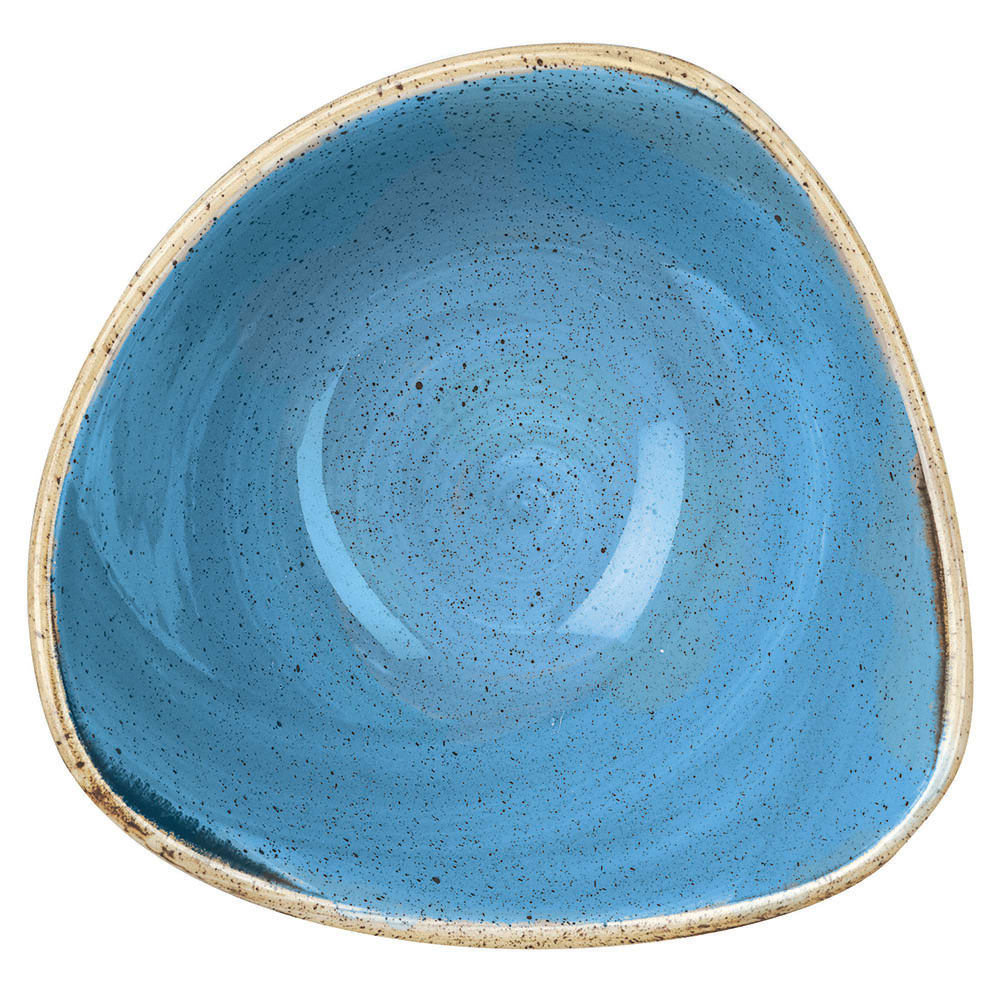 Churchill SCFSTRB61 9 oz Triangular Stonecast Bowl - Ceramic, Cornflower Blue