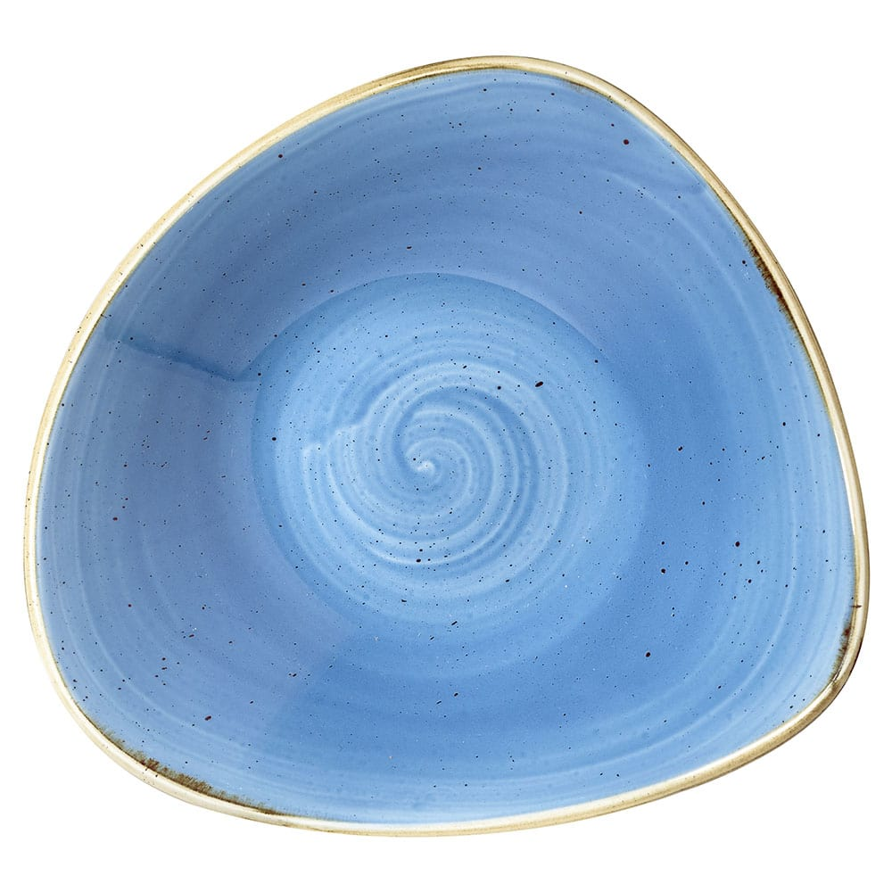 Churchill SCFSTRB71 13-oz Triangular Stonecast Bowl - Ceramic, Cornflower Blue