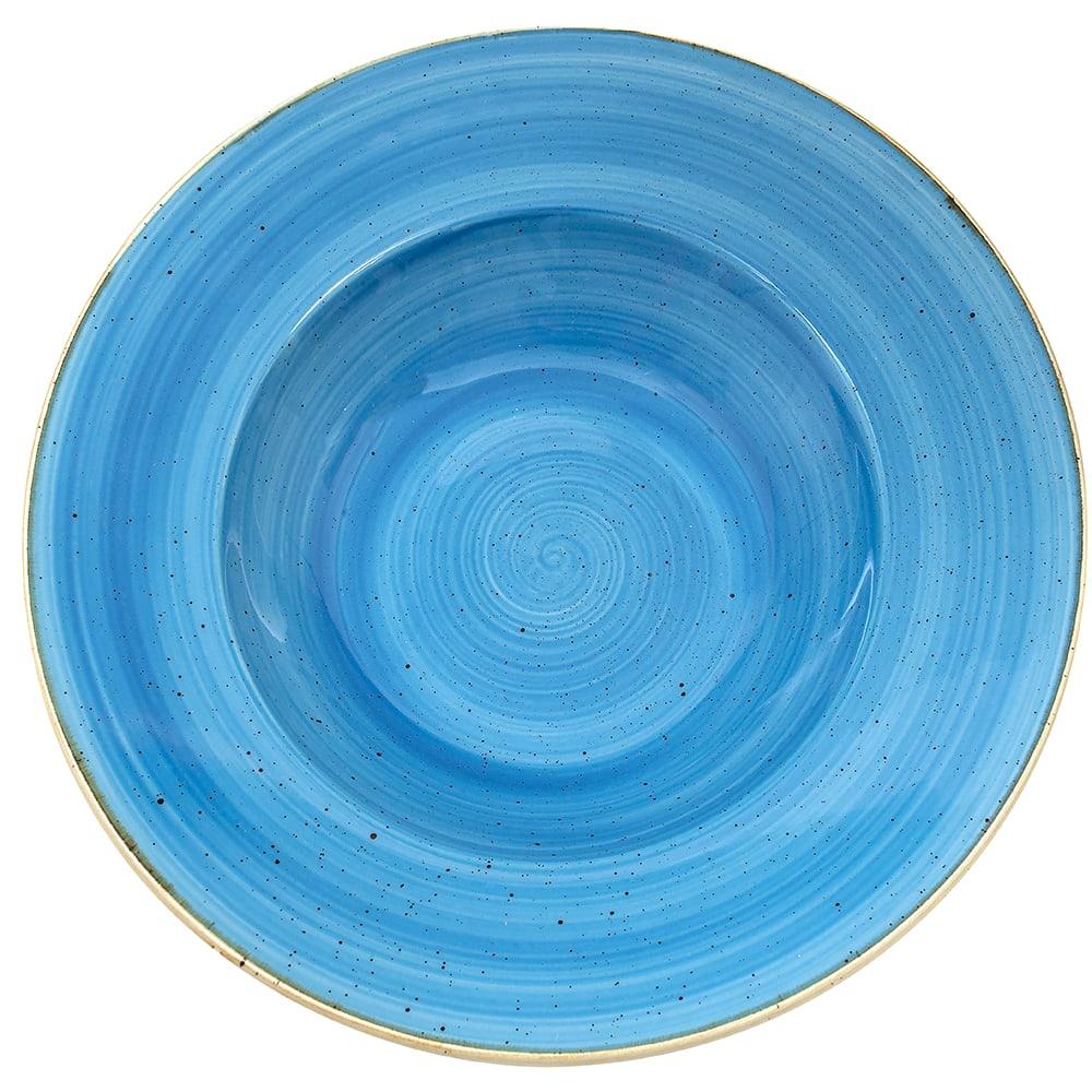 Churchill SCFSVWBL1 16.5 oz Stonecast Bowl - Ceramic, Cornflower Blue