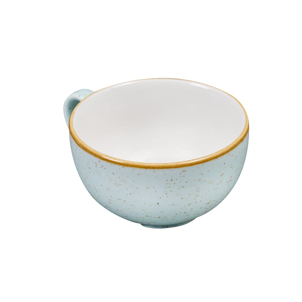 Churchill SDESCB201 8-oz Stonecast Cappuccino Cup - Ceramic, Duck Egg Blue
