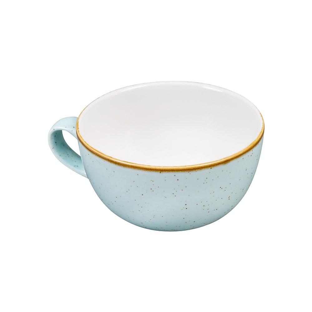 Churchill SDESCB281 12 oz Stonecast Cappuccino Cup - Ceramic, Duck Egg Blue