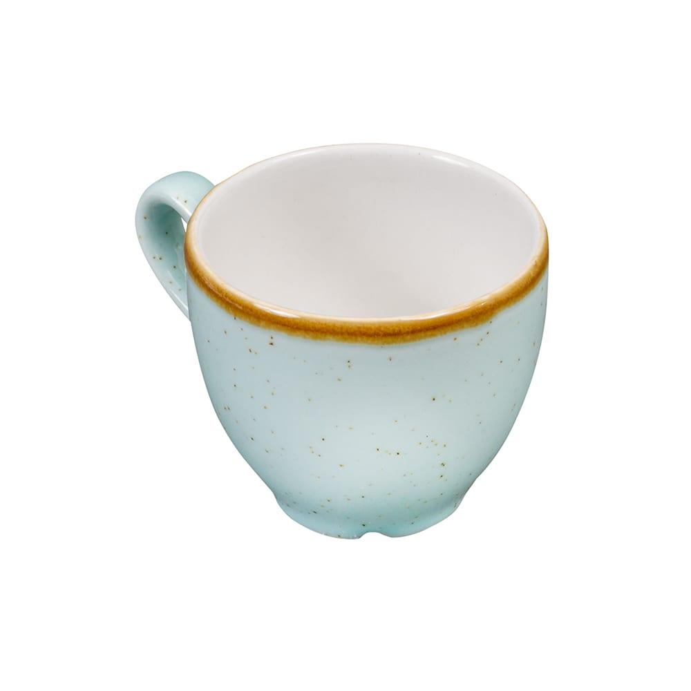 Churchill SDESCEB91 3.5 oz Stonecast Espresso Cup - Ceramic, Duck Egg Blue