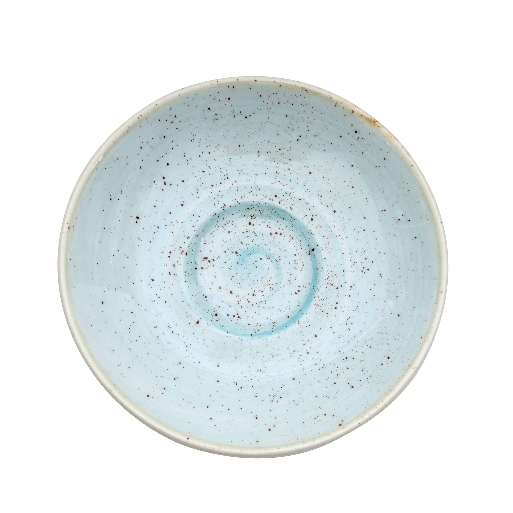 "Churchill SDESESS1 4.5"" Stonecast Espresso Saucer - Ceramic, Duck Egg Blue"