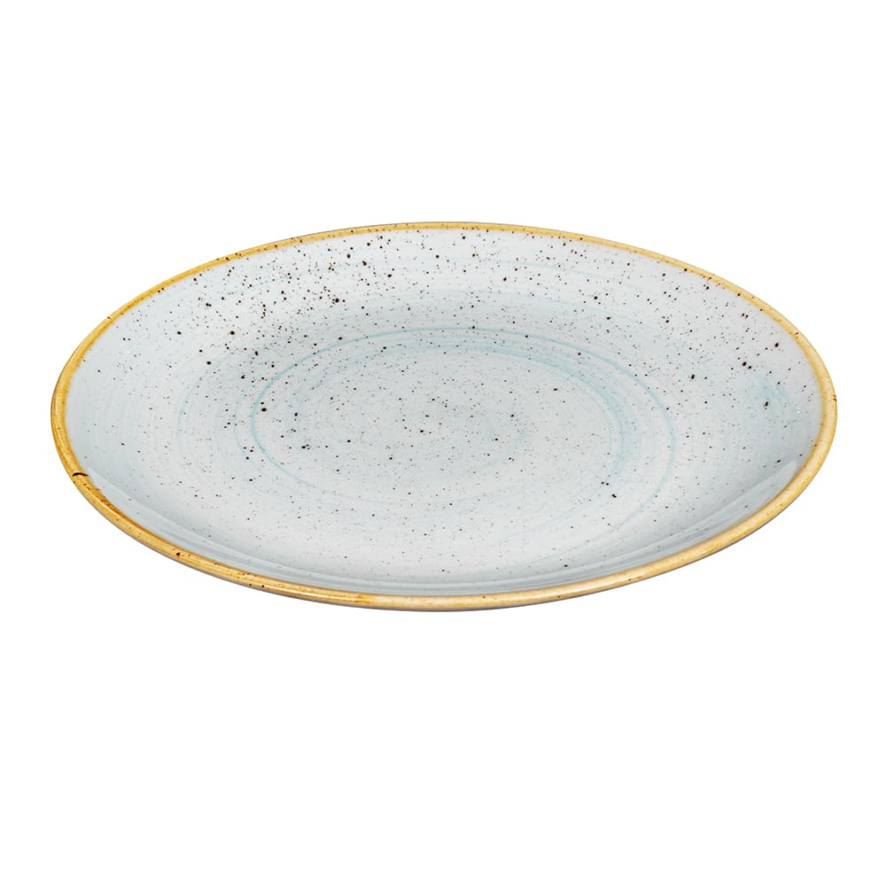 "Churchill SDESEV101 10.25"" Round Stonecast Plate - Ceramic, Duck Egg Blue"