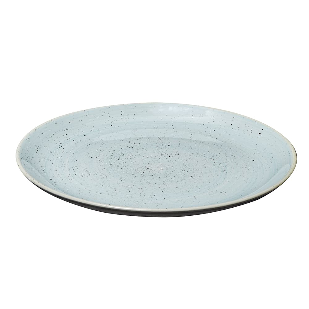 "Churchill SDESEV111 11.25"" Round Stonecast Plate - Ceramic, Duck Egg Blue"