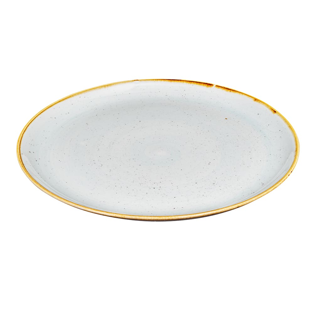 "Churchill SDESEV121 12.75"" Round Stonecast Plate - Ceramic, Duck Egg Blue"