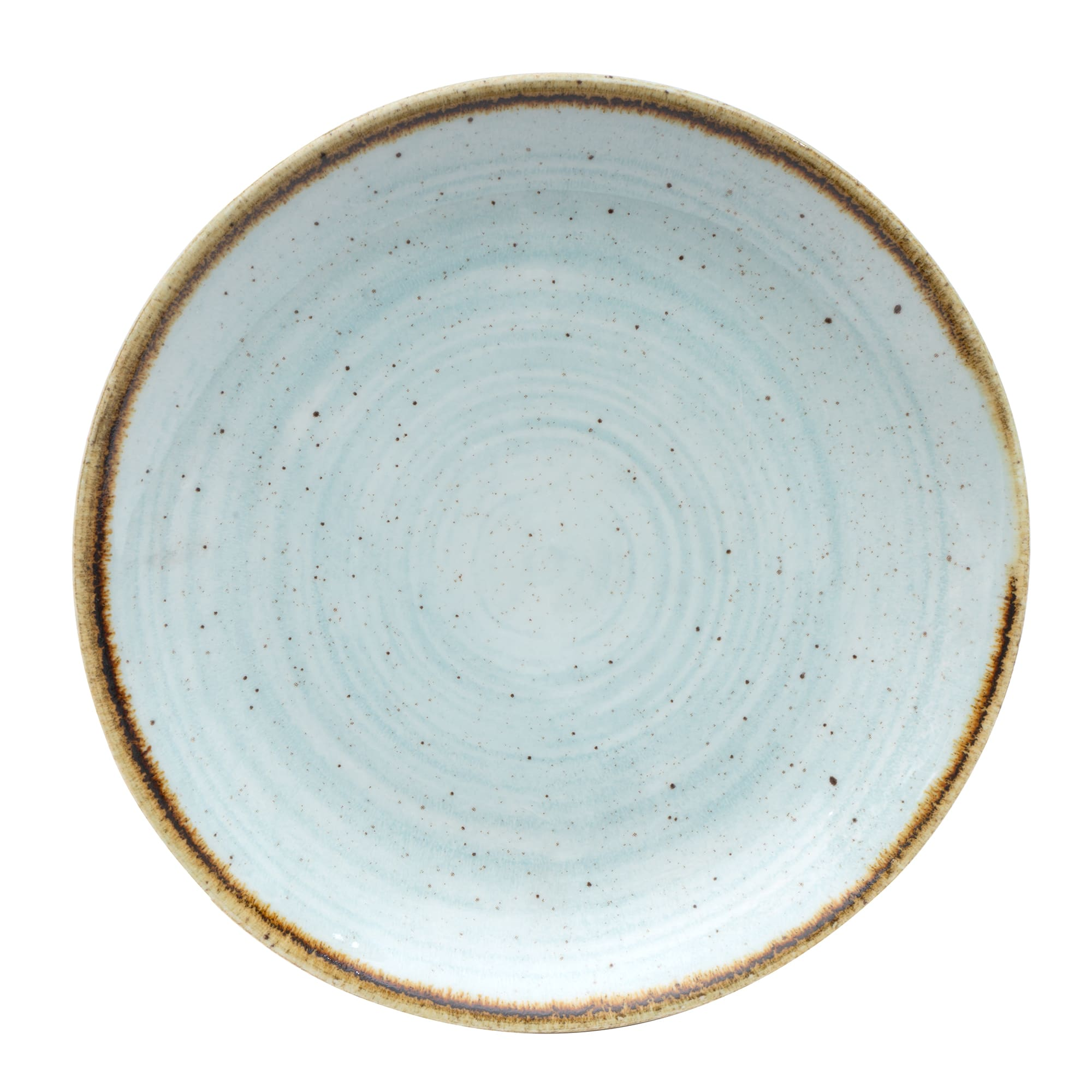 "Churchill SDESEVP61 6.5"" Round Stonecast Plate - Ceramic, Duck Egg Blue"
