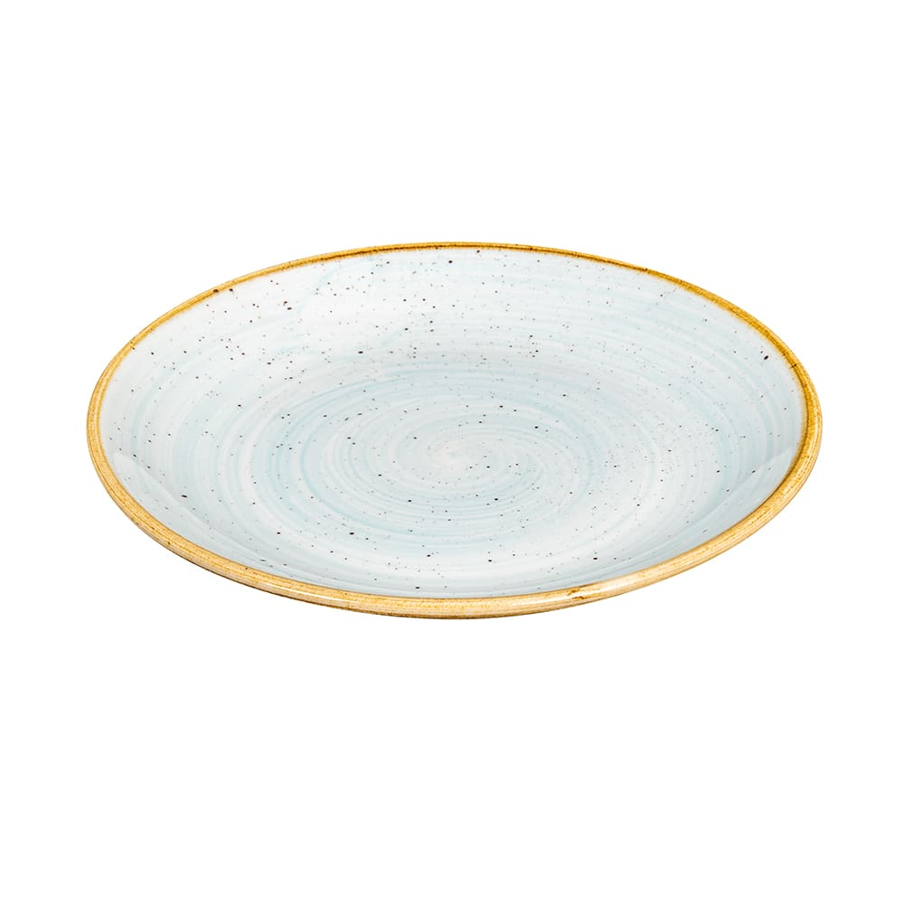 "Churchill SDESEVP81 8.67"" Round Stonecast Plate - Ceramic, Duck Egg Blue"