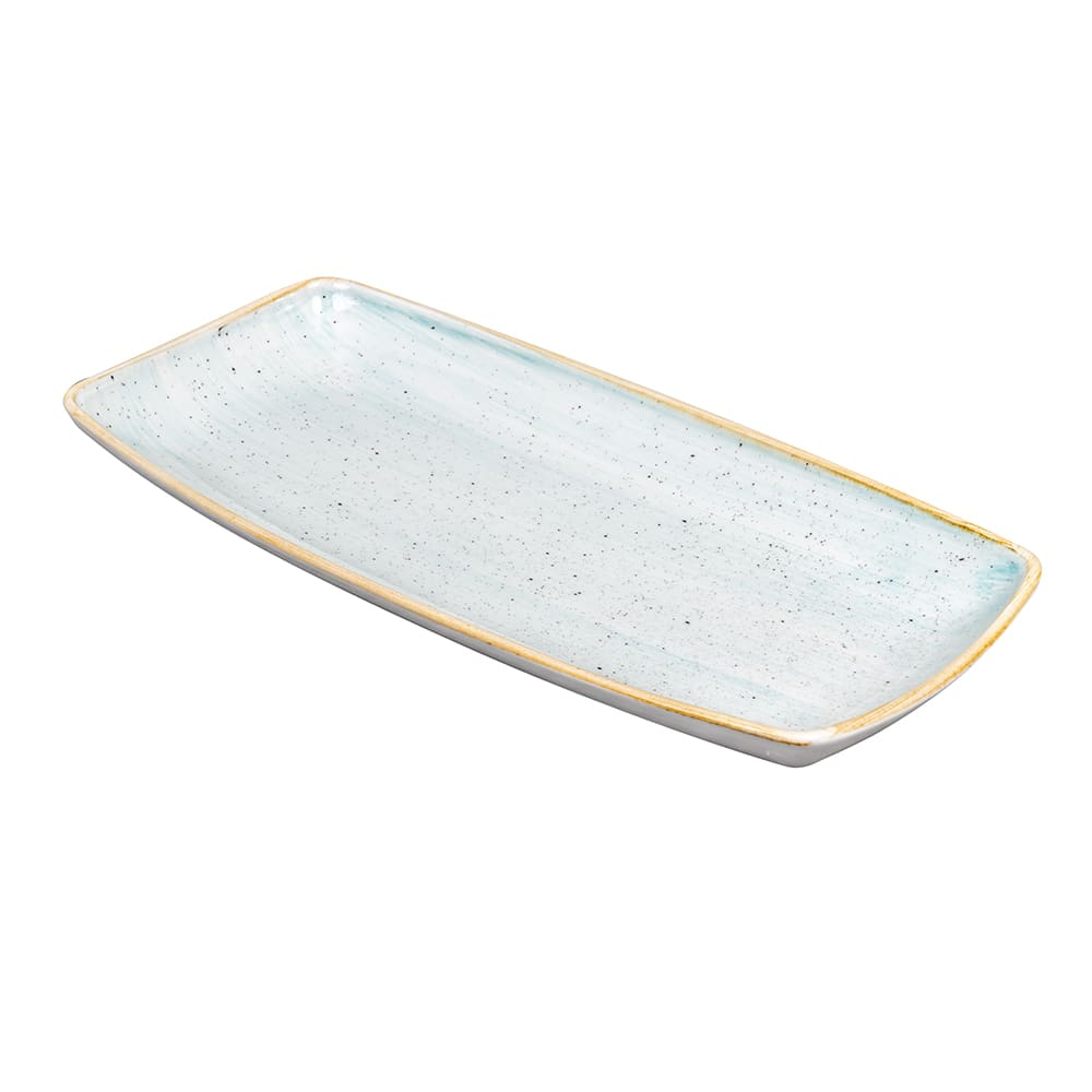 "Churchill SDESOP111 Rectangular Stonecast Plate - 11.75"" x 6"", Ceramic, Duck Egg Blue"