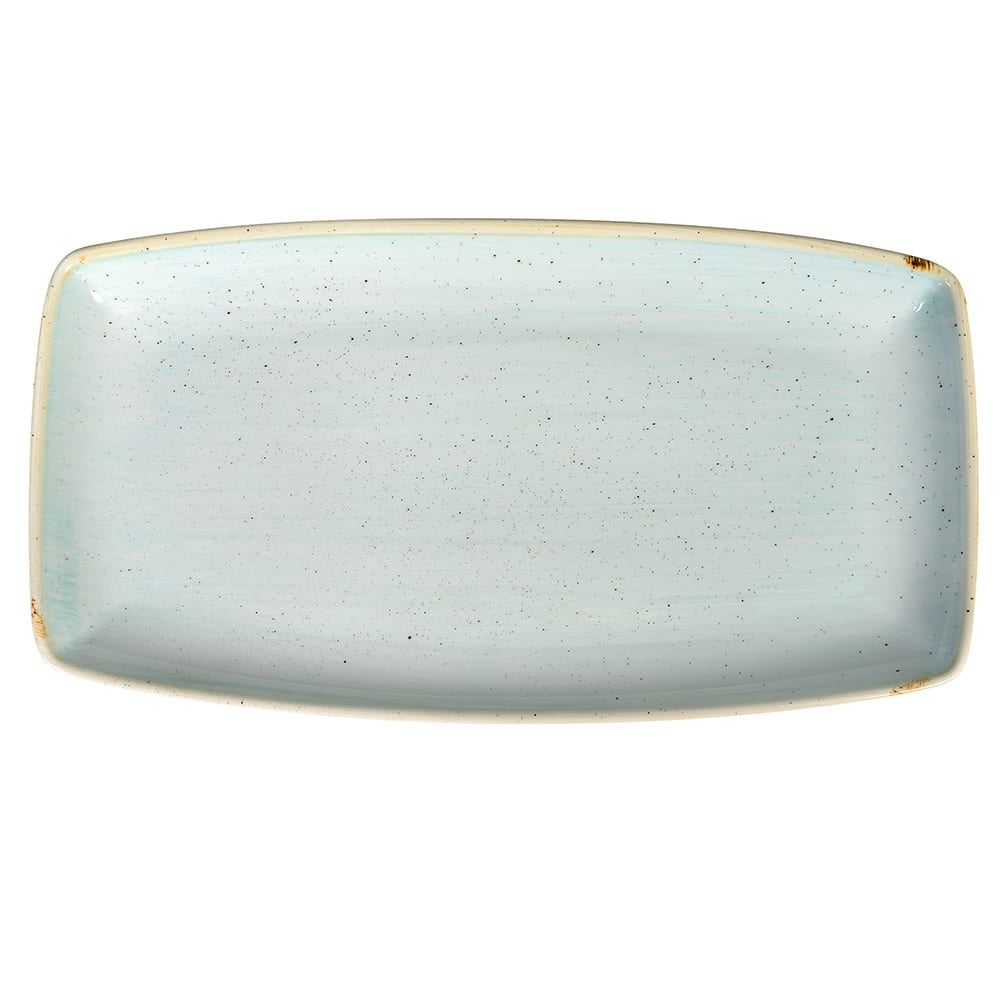 "Churchill SDESOP141 Rectangular Stonecast Plate - 14"" x 7.25"", Ceramic, Duck Egg Blue"