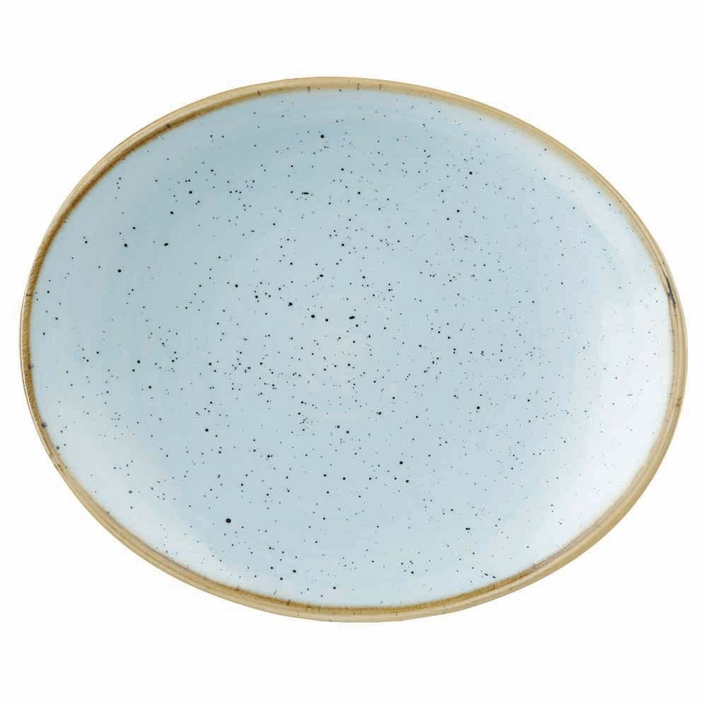 "Churchill SDESOP71 Rectangular Stonecast Plate - 7.75"" x 6.25"", Ceramic, Duck Egg Blue"