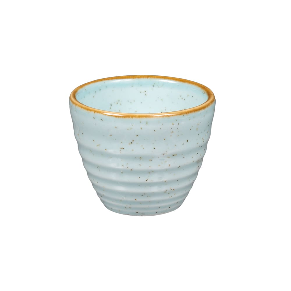Churchill SDESRPD21 2 oz Stonecast Ripple Dipper Pot - Ceramic, Duck Egg Blue