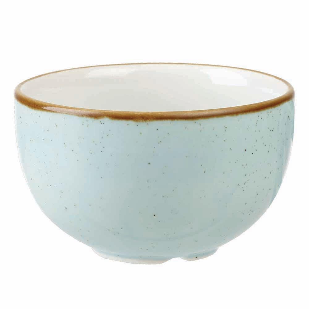 Churchill SDESSSGR1 8 oz Stonecast Sugar Bowl - Ceramic, Duck Egg Blue