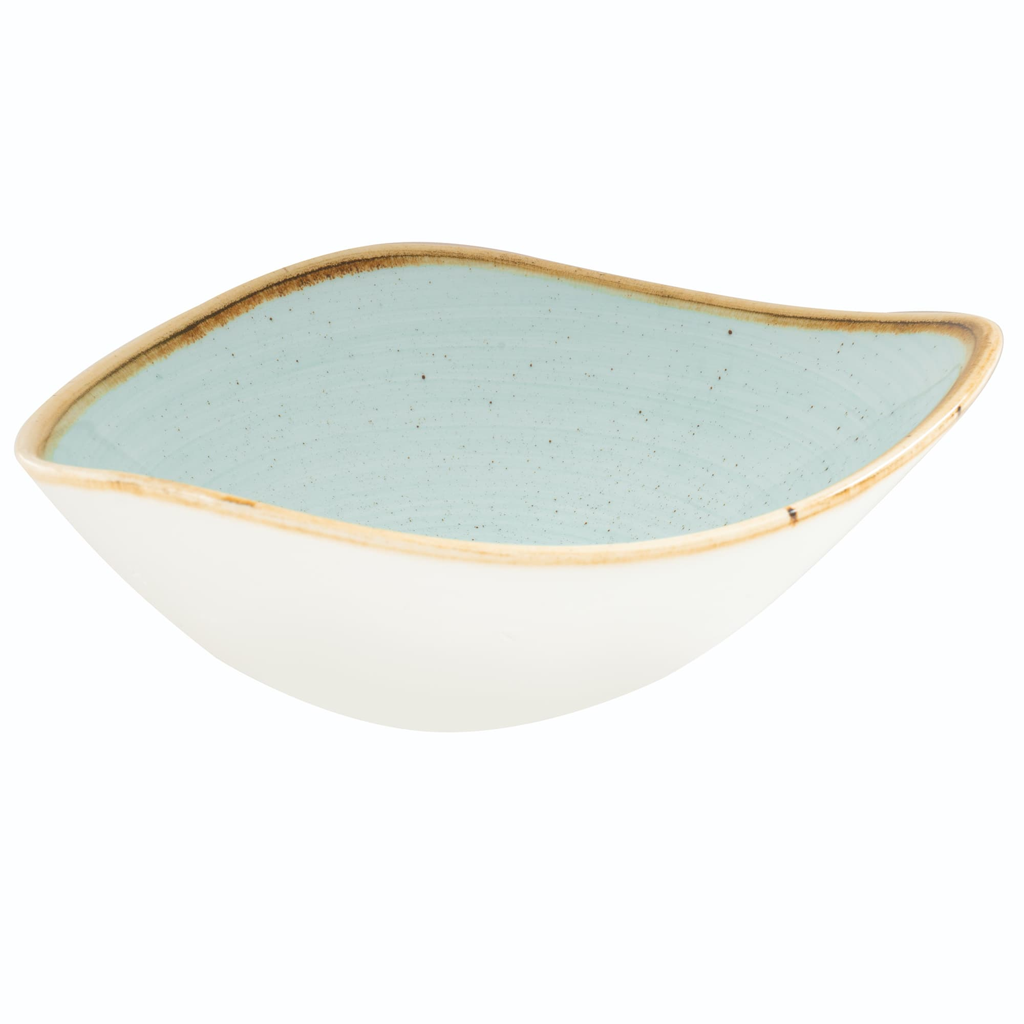 Churchill SDESTRB71 13 oz Triangular Stonecast Bowl - Ceramic, Duck Egg Blue