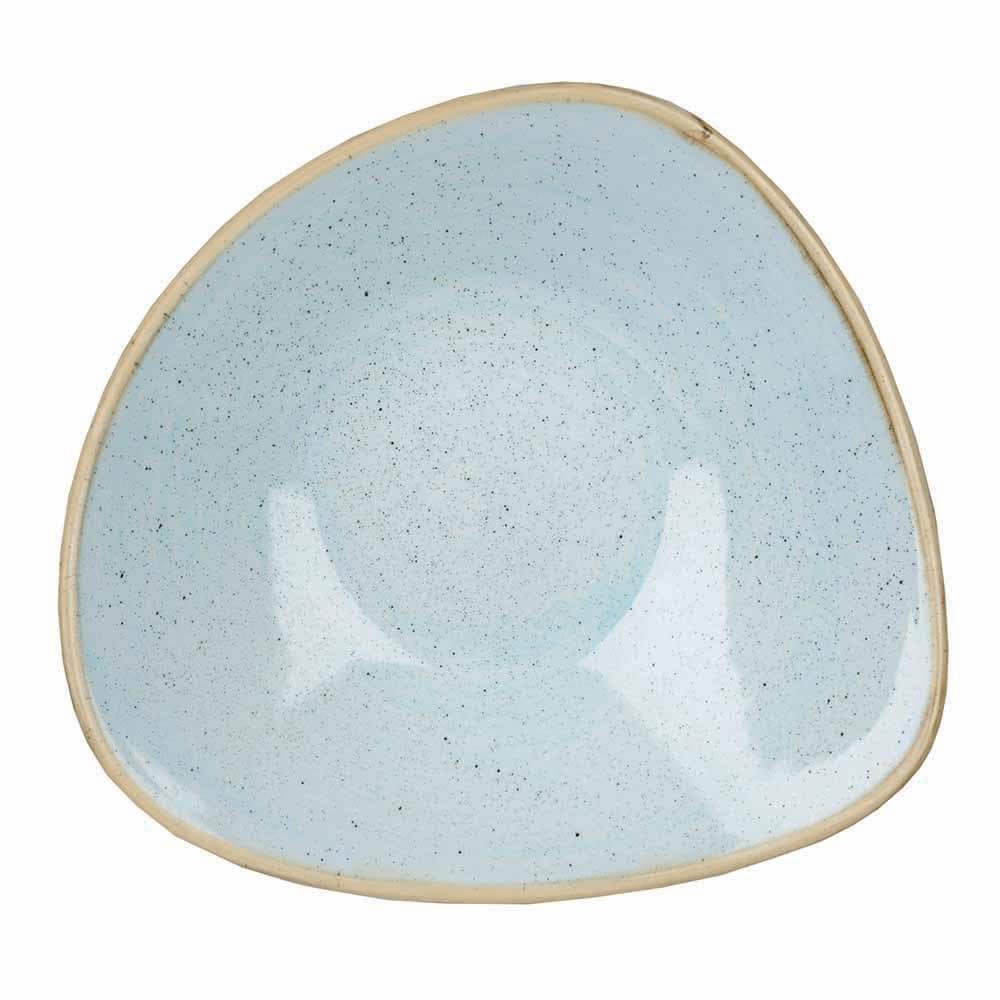 Churchill SDESTRB91 21-oz Triangular Stonecast Bowl - Ceramic, Duck Egg Blue