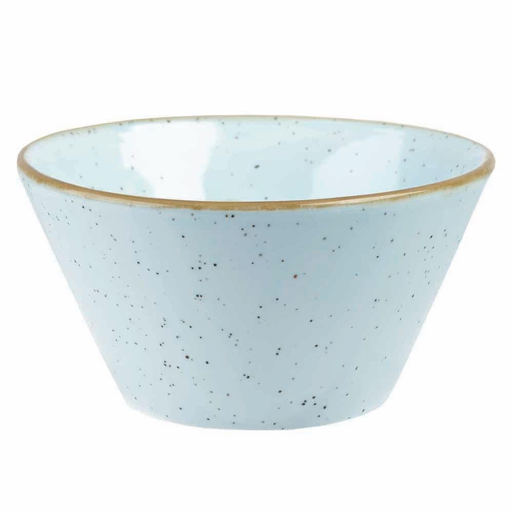 Churchill SDESZE121 12 oz Stonecast Zest Bowl - Ceramic, Duck Egg Blue