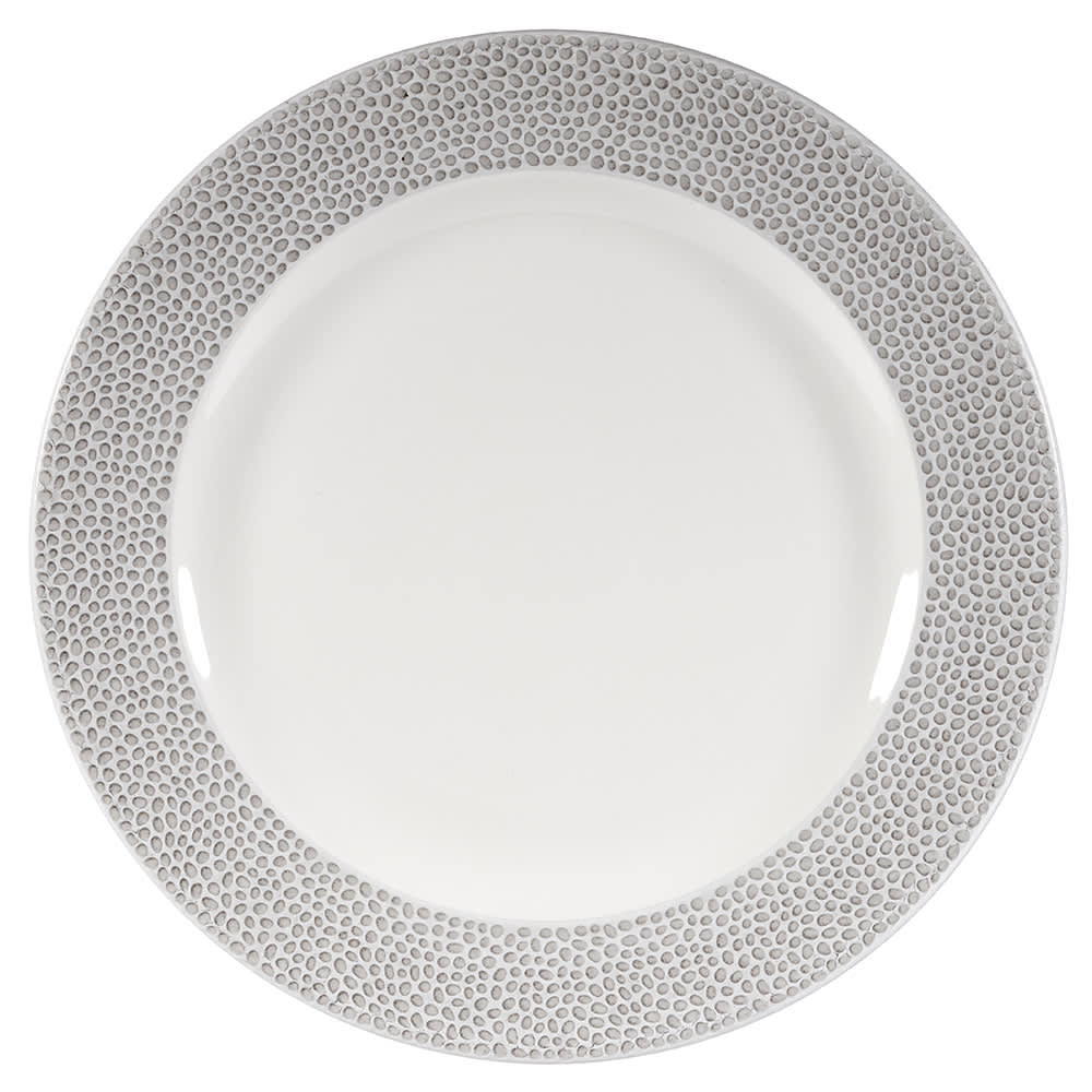 """Churchill SHISIF581 10-7/8"""" Round Dinner Plate - China, Shale Grey"""