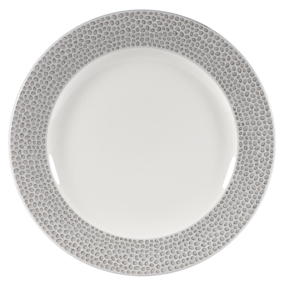 "Churchill SHISIP121 12"" Round Dinner Plate - China, Shale Grey"