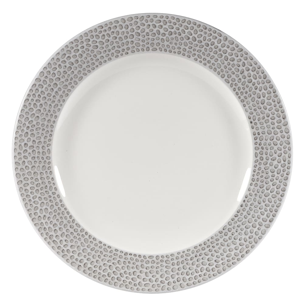 "Churchill SHISIP651 6-5/8"" Round Dinner Plate - China, Shale Grey"
