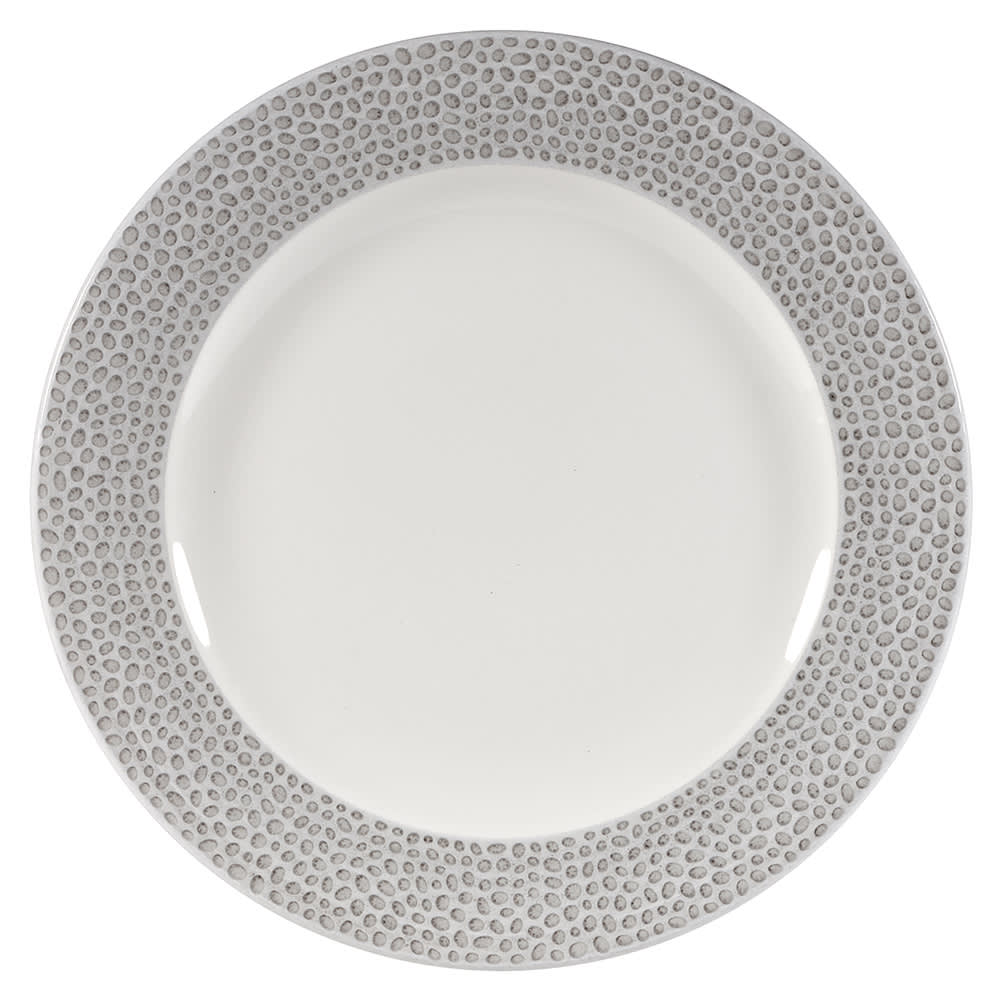 """Churchill SHISIP81 8-1/4"""" Round Dinner Plate - China, Shale Grey"""