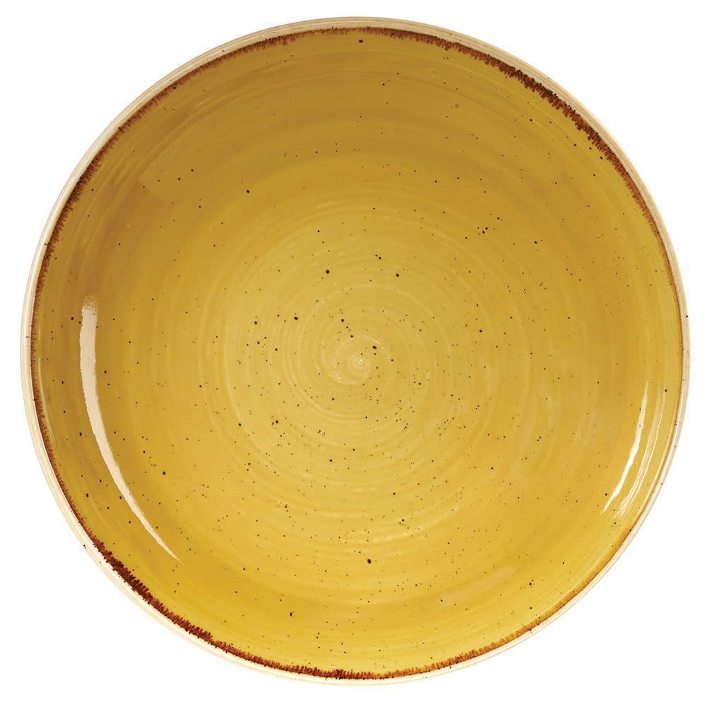 Churchill SMSSEVB91 40-oz Stonecast Bowl - Ceramic, Mustard Seed Yellow