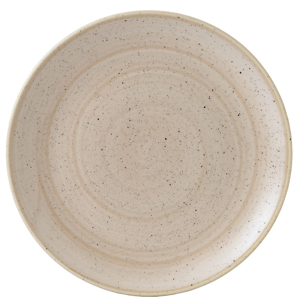 "Churchill SNMSEV101 10.25"" Round Stonecast Plate - Ceramic, Nutmeg Cream"