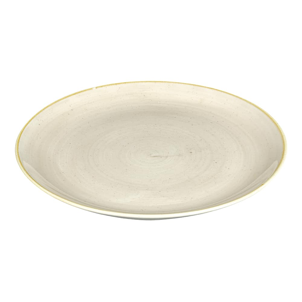 "Churchill SNMSEV111 11.25"" Round Stonecast Plate - Ceramic, Nutmeg Cream"