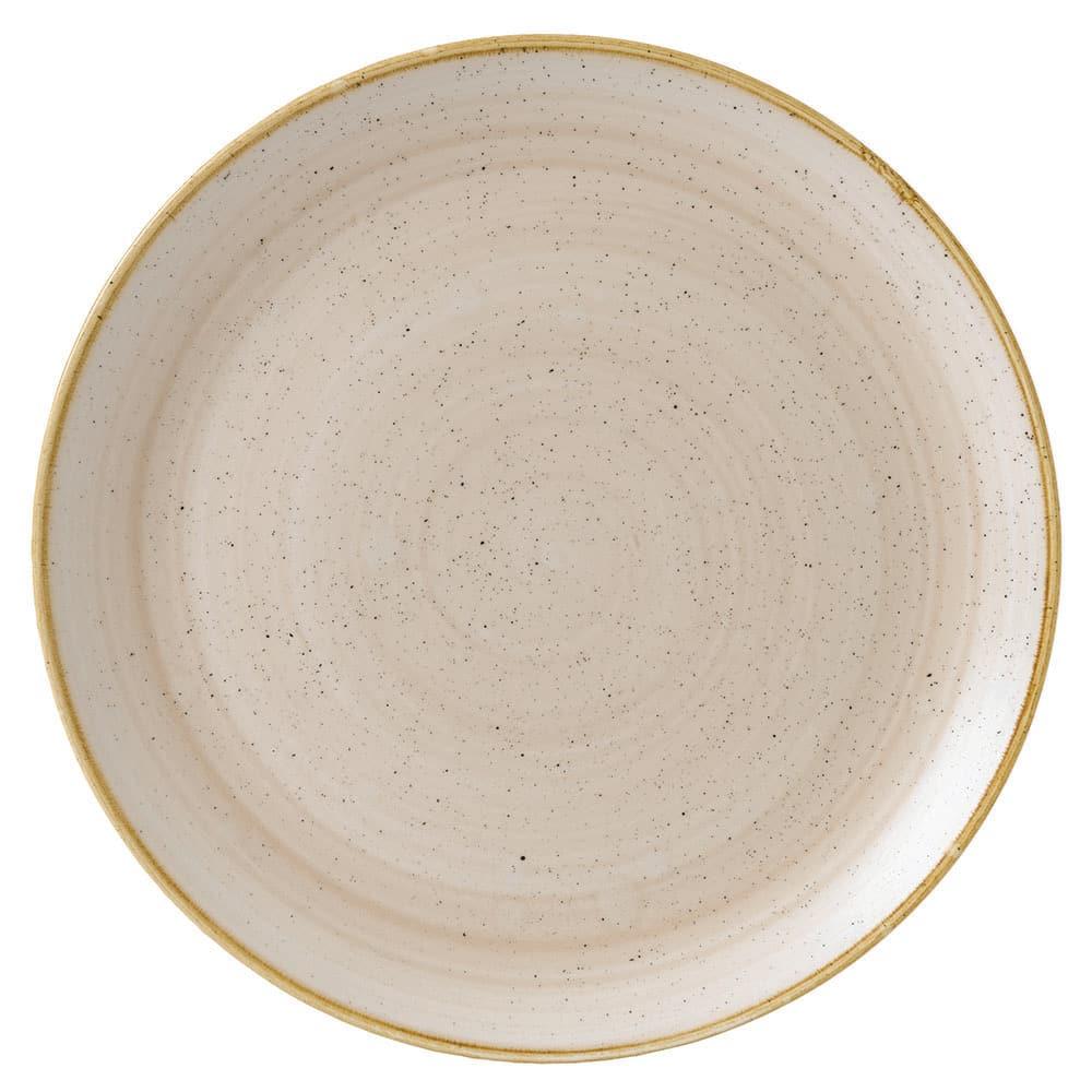 "Churchill SNMSEV121 12.75"" Round Stonecast Plate - Ceramic, Nutmeg Cream"