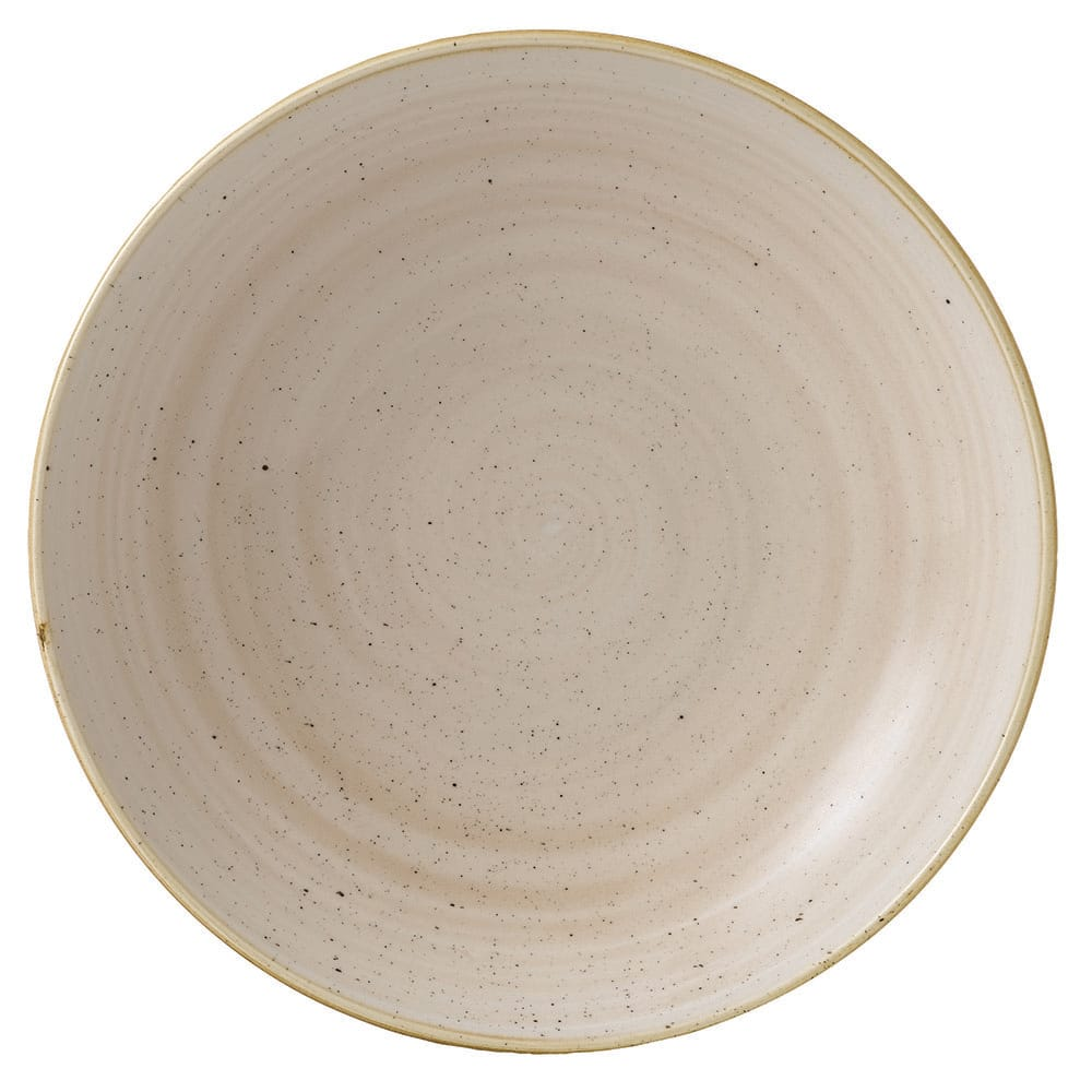 Churchill SNMSEVB91 40-oz Stonecast Bowl - Ceramic, Nutmeg Cream