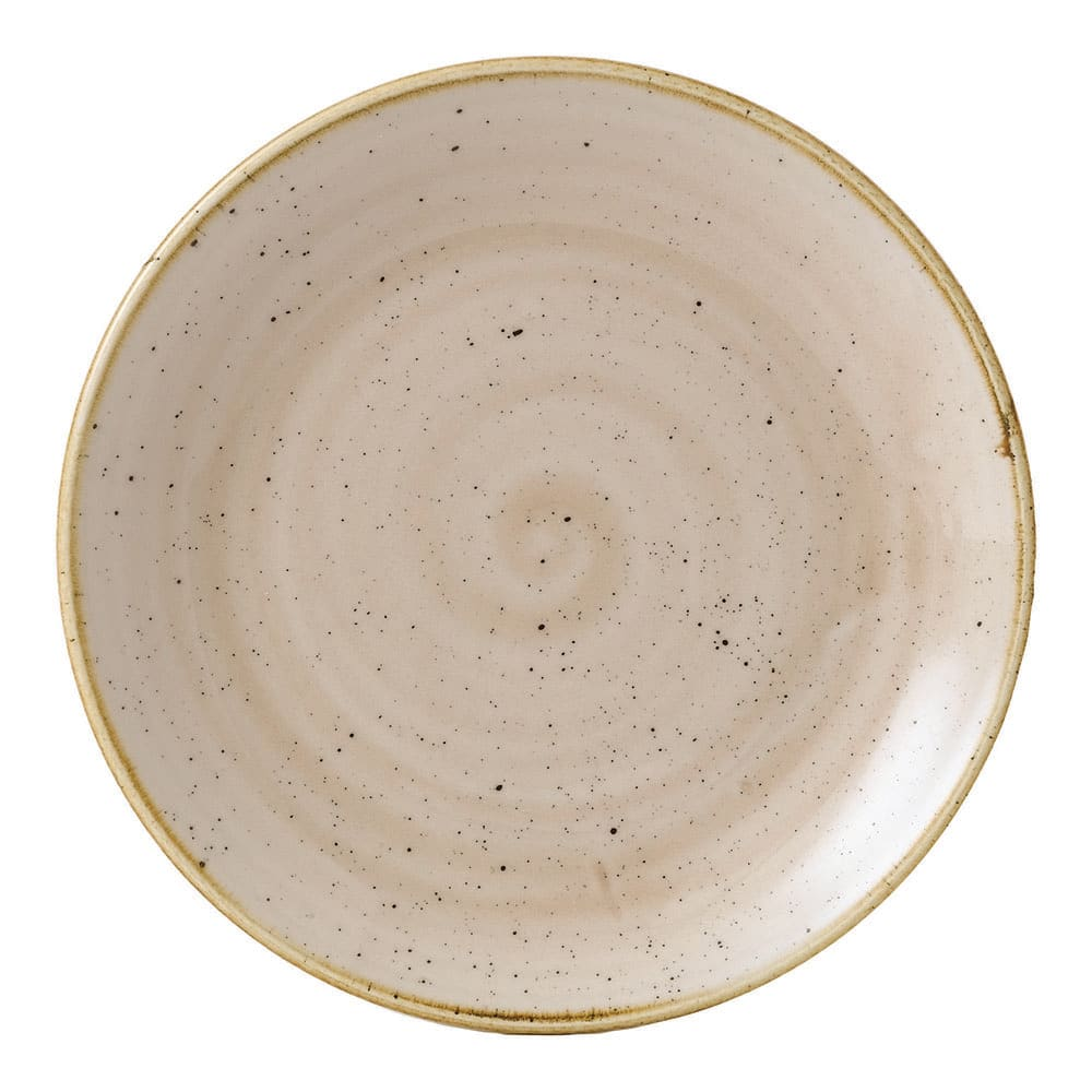 "Churchill SNMSEVP61 6.5"" Round Stonecast Plate - Ceramic, Nutmeg Cream"
