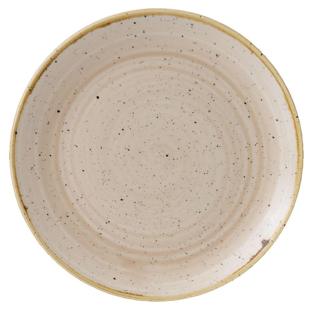 "Churchill SNMSEVP81 8.67"" Round Stonecast Plate - Ceramic, Nutmeg Cream"