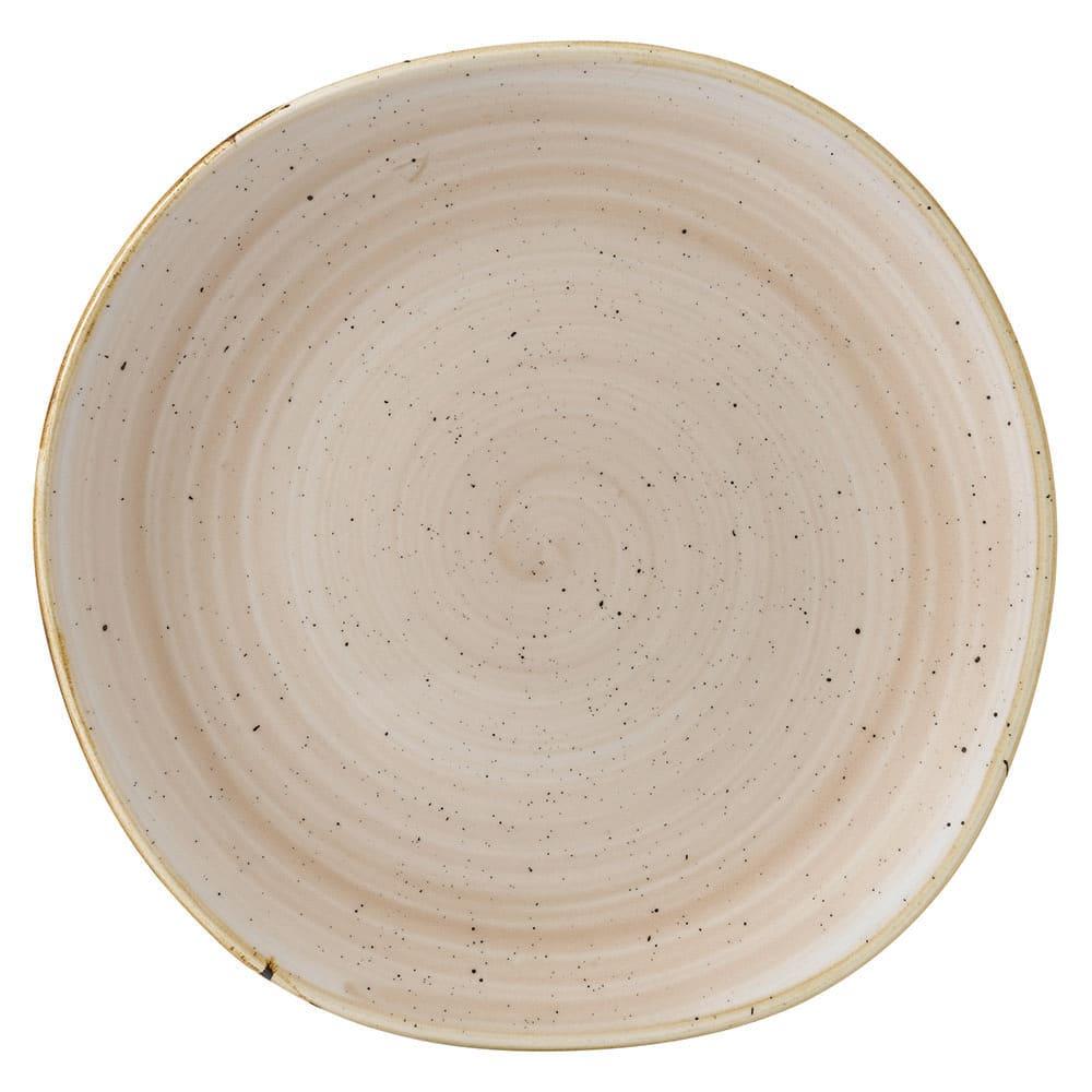 "Churchill SNMSOG101 10.38"" Round Stonecast Plate - Ceramic, Nutmeg Cream"