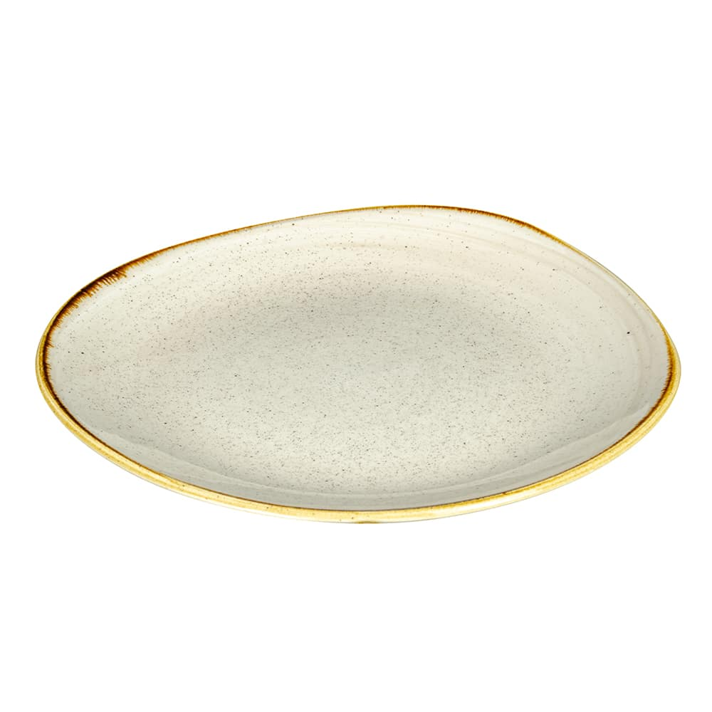 "Churchill SNMSOG111 11.25"" Round Stonecast Plate - Ceramic, Nutmeg Cream"