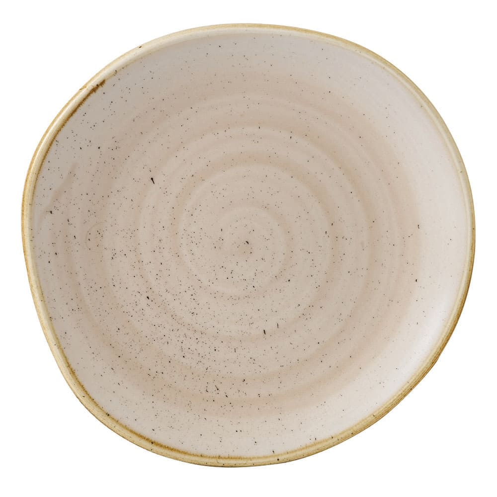 "Churchill SNMSOG71 7.25"" Round Stonecast Plate - Ceramic, Nutmeg Cream"