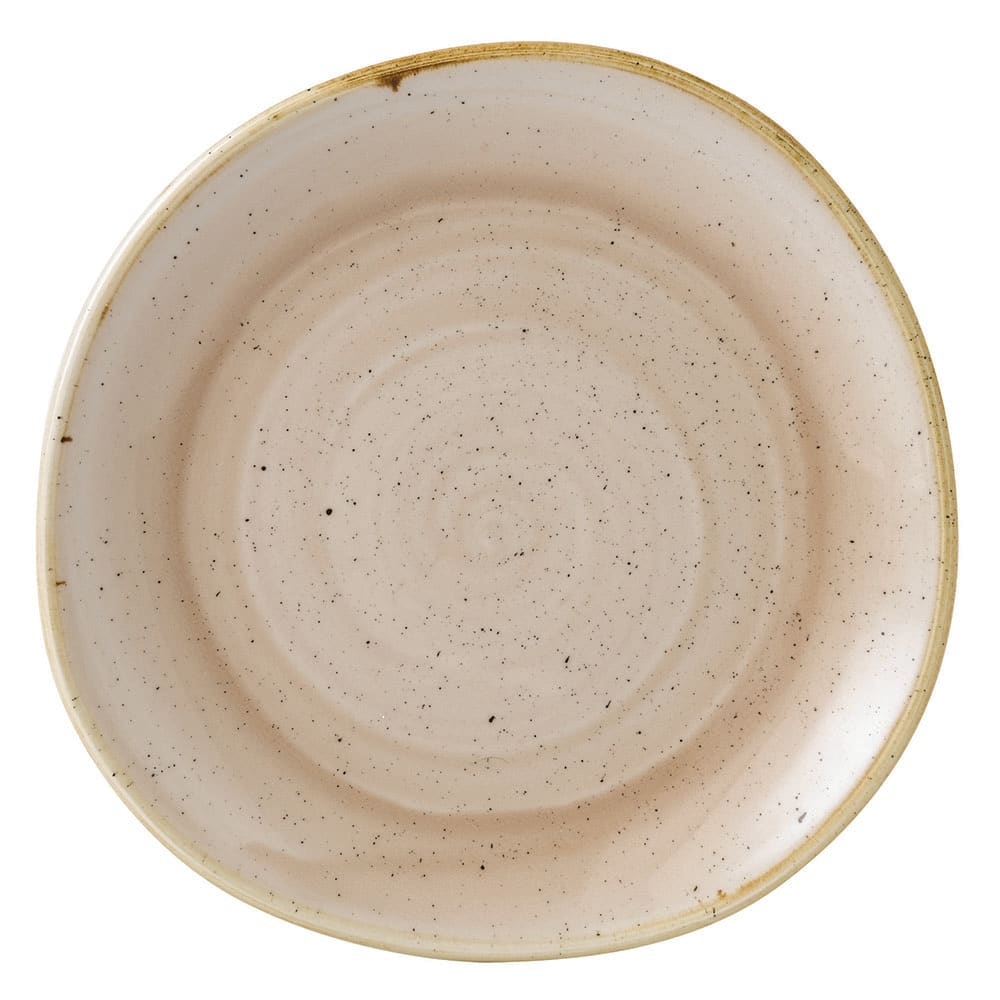 "Churchill SNMSOG81 8.25"" Round Stonecast Plate - Ceramic, Nutmeg Cream"